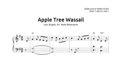 Preview_Apple Tree Wassail_sheet music_harp