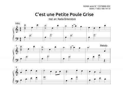 Preview_C est une petite poule grise_sheet music_harp