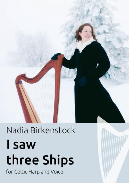 I_saw_three_ships_harp_sheet music