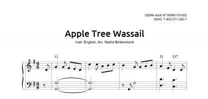 Preview_Apple Tree Wassail_sheet music_harp