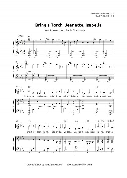 Preview_Bring a Torch Jeannette Isabella_sheet music_harp