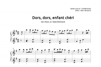 Preview_Dors dors enfant cheri_sheet music_harp