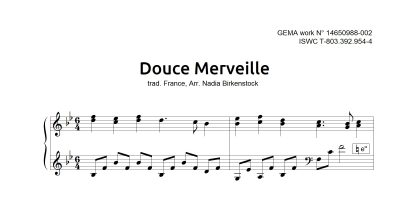 Preview_Douce merveille_sheet music_harp