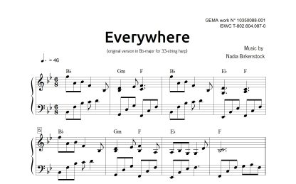 Preview_Everywhere_Bb_sheet music_harp