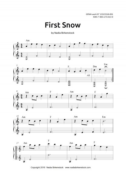 Preview_First Snow_sheet music_harp