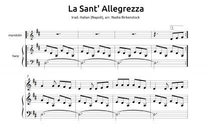Preview_La Sant' Allegrezza_sheet music_harp