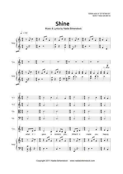 Preview_Shine Partitur Streichquartett_sheet music_harp