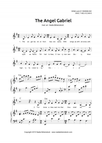 Preview_The Angel Gabriel_sheet music_harp