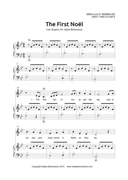 Preview_The first Noel_sheet music_harp