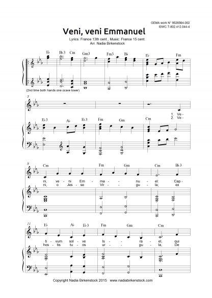 Preview_Veni, veni Emmanuel_sheet music_harp