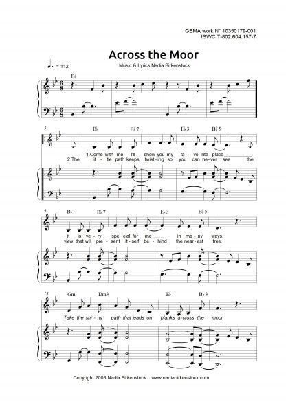 Preview_Across the Moor_sheet music harp