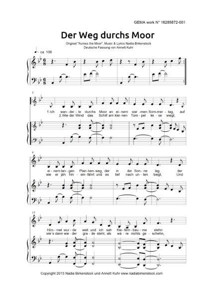 Preview_Der Weg durchs Moor_sheet music