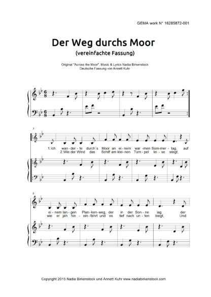 Preview_Der Weg durchs Moor_simplified_sheet music
